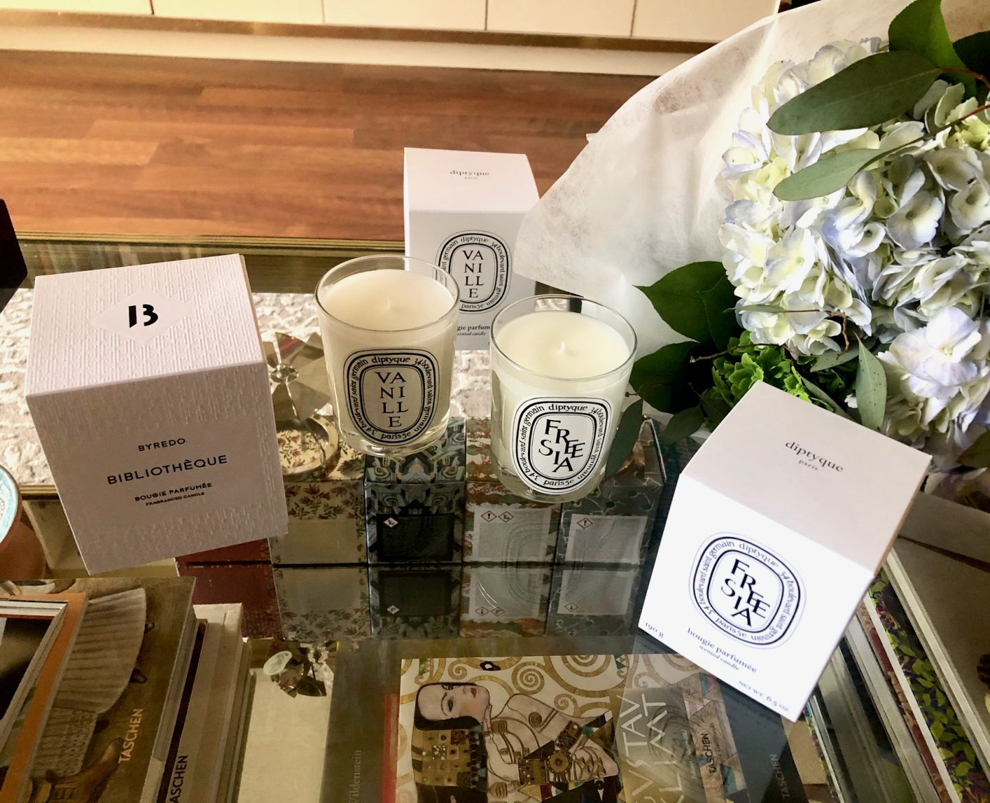 Spring Candles- Byredo Bibliothèque & Diptyque Vanille and Freesia